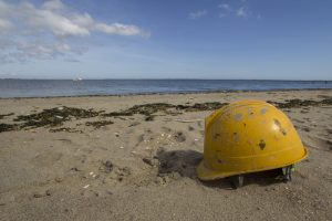 Hardhat on Beach